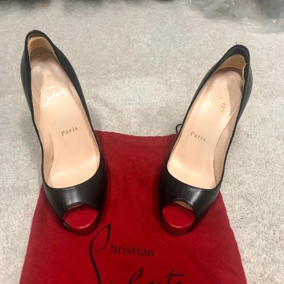6dee3b60c6 Christian Louboutin Shoes | Black Peep Toe Pump | Poshmark